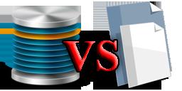 новичкам: файлы против базы данных